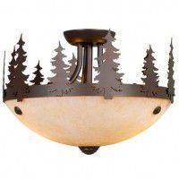 Yellowstone Pine Tree Semi Flush Ceiling Light
