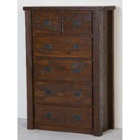 Northwoods Barnwood 6 Drawer Chest