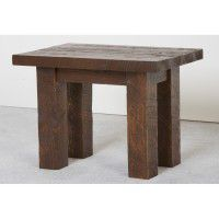 Northwoods Barnwood End Table