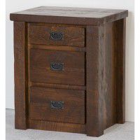 Northwoods Barnwood 3 Drawer Nightstand