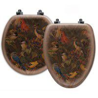 Berry Bush Song Bird Toilet Seats