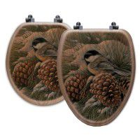 December Dawn Chickadee Toilet Seats