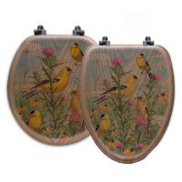 Golden Glories Song Bird Toilet Seats