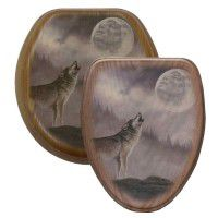 Kindred Spirits Wolf Toilet Seats