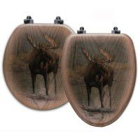 Quiet Water Moose Toilet Seats