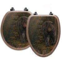 Rocky Outcrop Bear Toilet Seats