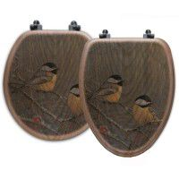 Winter Breeze Chickadee Toilet Seats