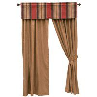 Mocha Faux Suede Drapes and Appalachian Valance