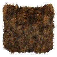 Faux Grizzly Bear Fur Pillow