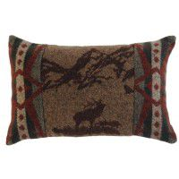 Rocky Mountain Elk Rectangle Pillow