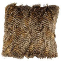 Feathers Faux Fur Pillow