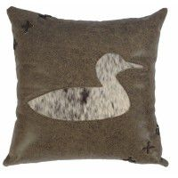 Leather & Hide Duck Pillow