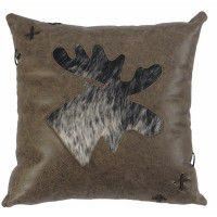Leather & Hide Moose Pillow