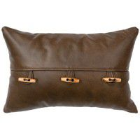 Caribou 3 Toggle Leather Pillow