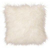 Llama Snow Faux Fur Pillow