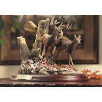 Autumn Run-Whitetail Deer Sculpture