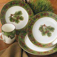 Ceramic Pine Cone Dinnerware Set