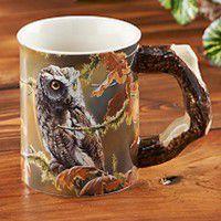 Owl Sculpted Coffee Mug