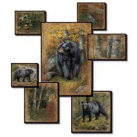 Black Bear Collage Wall Art