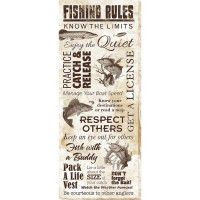 Fishing Rules Wrapped Canvas Art