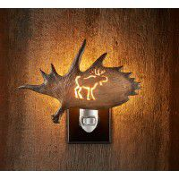 Antler Night Light - Moose