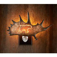 Antler Night Light - Bear