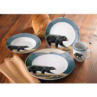 Ridgeline Bear 16 Piece Dinnerware Set