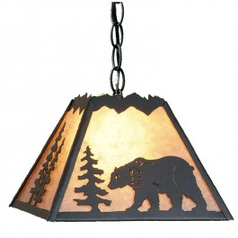 Rocky Mountain Bear Pendant Light-Small